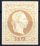 """(*) 1867, """"Ungezähnter Probedruck"""", 5 Kr. Auf Dünnem Papier In Graubraun, Ungummiert, Attest Soecknick """"erstmalig Vorlie - Sin Clasificación"""