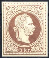 """(*) 1867, """"Ungezähnter Probedruck"""", 5 Kr. Auf Dünnem Papier In Maron, Ungummiert, Attest Soecknick """"erstmalig Vorliegend - Sin Clasificación"""