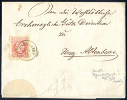 Cover 1867, Brief Von Neusiedl Am See Vom 19.10. Nach Ung. Altenburg Frankiert Durch 5 Kr., Type 37 I / Ia Signiert Ferc - Sin Clasificación