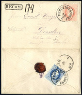 Cover 1869/83, 6 Briefe Wovon 4 Eingeschrieben, Einer Von Perchtoldsdorf Am 18.8. Nach Dresden Mit Rückseitig 10 Kr., 2  - Sin Clasificación