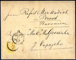 Cover 1872, Zweisprachige Gedruckte Todesanzeige Vom 11.12.1872 Von Wien An Den Forwarding Agent Raif Merkadich In Brood - Sin Clasificación