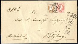 Cover 1873, Eingeschriebener Brief Aus Hietzing Vom 13.7. Nach Kötzingen (Bayern) Frankiert Mit 5 + 15 Kr. Franz Joseph, - Sin Clasificación