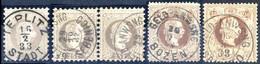 """O 1874, """"Feiner Druck"""", 25 Kr. Mit Stempel Von Teplitz, Paar 25 Kr. Mit Stempel Von Sebenico, 50 Kr. Mit Stempel Von Boz - Sin Clasificación"""