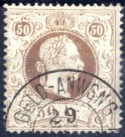 O 1874, 50 Kreuzer Feiner Druck In LZ 12, Gestempelt, ANK 41II / 225,- - Sin Clasificación