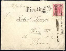 Cover 1881/94, Drei Briefe, Davon 2 Mit Bahnamtlichen Stempeln, Einer Mit Blauem Wöllersdorf Neben 10 Kr. Franz Foseph B - Sin Clasificación
