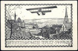 Cover 1911, Karte, Luftflottenkomitee-Teplitz-Schönau Frankiert Mit 10 H. Franz Joseph In Die Schweiz, Genaue Beschreibu - Sin Clasificación