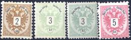 """** 1883, Freimarken Doppeladler, Die 2, 3 Und 5 Kr Je Mit BZ 9½ (5 Kr Mit Befund Ferchenbauer """"vollzähniges Postfrisches - Sin Clasificación"""