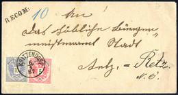 Cover 1887/89, Eingeschriebene Briefe, Einer Von Kritzendorf Am 6.1.87. Nach Retz Vorderseitig Frankiert Mit 5 +10Kr., D - Sin Clasificación