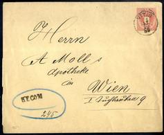 Cover 1888/1890, 3 Ganzsachenbriefe Mit 3 Kr. Doppeladler, Einer Von Bromberg N.Ö. Am 9.4.90 Nach Wiener Neustadt, Zwei  - Sin Clasificación
