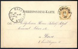 Cover 1890, Ansichtskartenvorläufer Von Hermagor Am 31.12. Nach Wien Frankiert Mit 2 Kr., Luxuserhaltung, ANK 44 - Sin Clasificación