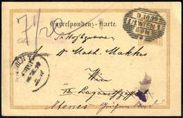 Cover 1889/99, Lot Von Einer Correspondenzkarte 1885 5 Kr. Von Graz Nach Korfu, Zwei Correspondenzkarten 1890 Eine Von W - Sin Clasificación