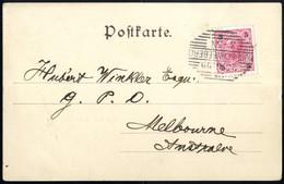 Cover 1890, Drei Ansichtskarten Mit 5 Kr. Kaiserkopf-Frankaturen, Eine Doppelkarte Salzburg Und Eiene Gruss Aus Schneebe - Sin Clasificación