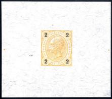 (*) 1890, Kaiserkopf, 2 Kreuzer, Einzelabzug In Orange, Ohne Gummi, ANK 51 PU I - Sin Clasificación