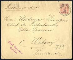 Cover 1890, Rekommandierter Umschlag 5 Kr. Im Türbogenmuster Mit Rückseitiger Zusatzfrankatur 1 + 2 + 2 + 5 + 5 Kr. Von  - Sin Clasificación