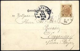 Cover 1893, Ansichtskartenvorläufer Von Mürzzuschlag Am 22.5. Nach Deggendorf (Bayern) Frankiert Mit 2 Kr., ANK 51 - Sin Clasificación