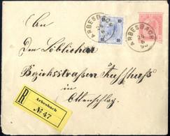 Cover 1895, Eingeschriebener Ganzsachenumschlag Zu 5 Kr Mit 10 Kr. Zusatzfrankatur Vom 24.6. Aus Arbesbach Nach Ottensch - Sin Clasificación