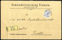 Cover 1899, 2 Portofreie Dienstsachen Aus Franzen, Eine Am 9.11. Und Eine Eingeschrieben Am 3.5. Wobei Die Reco-Gebühr D - Sin Clasificación