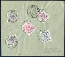 Cover 1900, Drei Mischrfrankaturen Kreuzer-Heller Aus Vöslau, Leobersdorf Und Wien, Prachtbelege - Sin Clasificación