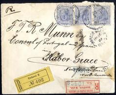 Cover 1900/07, 5 Briefe Wovon 2 Eingeschrieben, Einer Von Graz 7 Am 7.10.06 Nach Los Angeles, Einer Der 2. Gewichtsstufe - Sin Clasificación