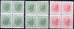 ** 1901/06, Kaiserkopfserien, 20 Werte (14 Verschiedene, 3 Viererblöcke) Je Mit Friedel-Zähnungen, (29 Verschiedene Zähn - Sin Clasificación