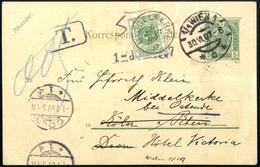Cover 1907/11, 6 Belege, 2 Briefe Und 2 Karten Mit Englischem Nachporto (Stempel) Und Eine Ganzsache Und Eine Ansichtska - Sin Clasificación