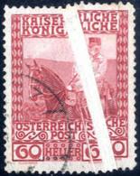 O 1908, 60 Heller Regierungs-Jubiläum, Gestempeltes Exemplar Mit Besonders Breiter Quetschfalte, ANK 156 - Sin Clasificación