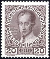 ** 1908, Regierungsjubiläum, 20 H. Dunkelbraun Auf Gekreidetem Kartonpapier, Postfrisch, Befund Soecknick, ANK 146y / 60 - Sin Clasificación
