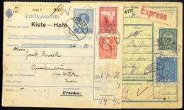Cover 1908/17, 7 Postbegleitadressen (2 Express) Mit Und Ohne Zusatzfrankaturen, Eine Mit Perfin Normal Und Verkehrt, - Sin Clasificación