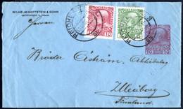Cover 1909/17, Lot 7 Privatganzsachen (5 Briefe Und 2 Korrespondenzkarten) Teils Mit Zusatzfrankatur Ins Ausland (Finnla - Sin Clasificación