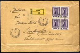 Cover 1911, Eingeschriebener Brief Der 15ten Gewichtsstufe Von Graz Am 5.11. Nach Battaglia (Italien) Frankiert Durch Vi - Sin Clasificación
