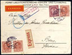 Cover 1911/18, Kaiserkrone + Karl I, 6 Briefe (3 Eingeschrieben, Einer Express), Ein Erlagsschein Und Ein Eingeschrieben - Sin Clasificación