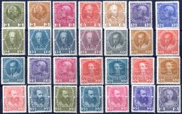 ** 1913, Jubiläumsausgabe Auf Gewöhnlichem Papier, 28 Werte In Anderen Farben, Postfrisch, ANK 139x-149x / 1680,- - Sin Clasificación