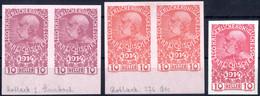 **/(*) 1914, Kriegswitwen Und -waisen 10 Heller Rosa, Zwei Ungezähnte Paare Vom Unteren Rand Als Farbproben In Zwei Vers - Sin Clasificación