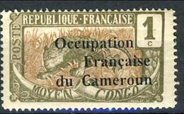 Cameroun 1916 Y&T N. 53 - 1 C. Grigio Oliva E Bruno Giallo, Sovrastampa Occupation Française...MLH Cat. € 120 - Ungebraucht