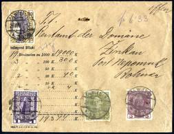 Cover 1914, Wertbrief Von Wien Am 28.6. Nach Zinkau Frankiert über 6,33 K. Regierungs-Jubiläumsausgabe, ANK 141,148,153, - Unclassified