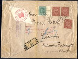 """Cover 1914/17, 4 Wertbriefe (auch Rayon Limitroph """"Dornbirn-St.Gallen"""", Rückschein Und Abfuhr -Etichett), Dazu 8 Belege  - Unclassified"""