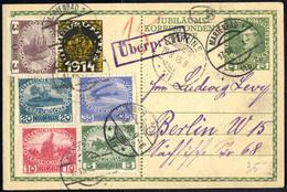 Cover 1915, Jubiläums-Korrespondenzkarte Mit Satz Der Kriegswitwen Und -waisen Von Marienbad Am 19.8. Nach Berlin, Links - Unclassified