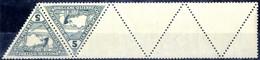 ** 1916, 2 Und 5 Heller Eilmarken Im Dreieck Mit 4 1/2 Leerfeldern, Postfrisch, Selten, Attest Soecknick, ANK 217/18 - Unclassified