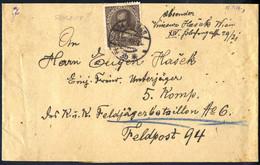 Cover 1916, 20 H. Jubiläumsausgabe Auf Gewöhnlichem Papier Auf Schleife Der 4° Gewichtsstufe Von Wien Am 18.7. An Die Fe - Unclassified