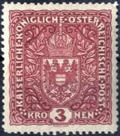 ** 1916, 3 K. Braunkarmin Im Breitformat, Postfrisches Erlesenes Prachtstück, Befund Dr. Ferchenbauer, ANK 201 II / 450, - Unclassified