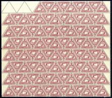 ** 1916, Eilmarke 2 Heller Im Kompletten Postfrischen Bogen Mit 100 Marken, Dabei Auch Mit Den Vier Anhängenden Leerfeld - Unclassified