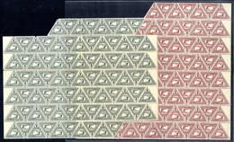 ** 1916, Eilmarken 2 Und 5 Heller Im Bogenteil Mit 83 Serien, Davon 11 Mit Leerfeld, Mittig Bogen Gefaltet, ANK 217/18 / - Unclassified