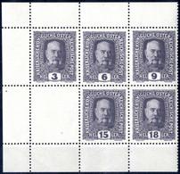 ** 1916, Kaiser Franz Joseph, Gummierter Gezähnter Kleinbogenteil Mit Den Nicht Verausgabten Werten, 3, 6, 9, 15 Und 18  - Unclassified
