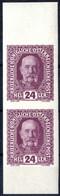 ** 1916, Kaiser Franz Joseph, Probedruck Des Nicht Verausgabten Wertes über 24 Heller Violett Im Ungezähnten Senkrechten - Unclassified