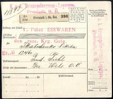 Cover 1916, Kriegsgefangenen-Lagerpost, Ein Paket Esswaren Vom Lager Freistadt An Einen Russischen Kriegsgefangenen In P - Unclassified