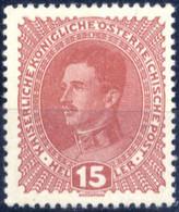 ** 1917, 15 Heller Kaiser Karl Auf Dickem Papier, Postfrisch, Befund Soecknick, ANK 221y / 600,- - Unclassified