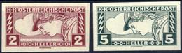 ** 1917, Eilmarken 2 H. Und 5 H. Je Ungezähnt In Postfrischer Erhaltung (ANK. 219 U, 220 U, € 500). - Unclassified