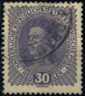 O 1917, Kaiser Karl I., 30 H Schwärzlichblauviolett, Dickes Papier, Gestempelt, Befund Soecknick, ANK 224y - Unclassified