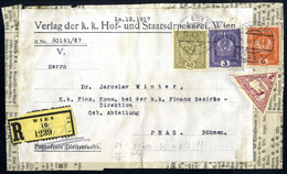 Cover 1917/18, Drei Schwere Drucksachen, Zwei Adresszettel 14 Facher Eilbrief Und 8 Facher Eingeschriebener Eilbrief, Da - Unclassified