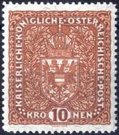 ** 1918, Flugpost Ohne Flugpostaufdruck, 10 K. Rötlichbraun In LZ 12 1/2, Nicht Verausgabter Wert, Postfrisches Erlesene - Unclassified